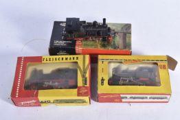 Fleischmann HO Gauge DB black Tank Locomotives, 0-6-0T 891315, 1316 2-4-0T70091, both in original