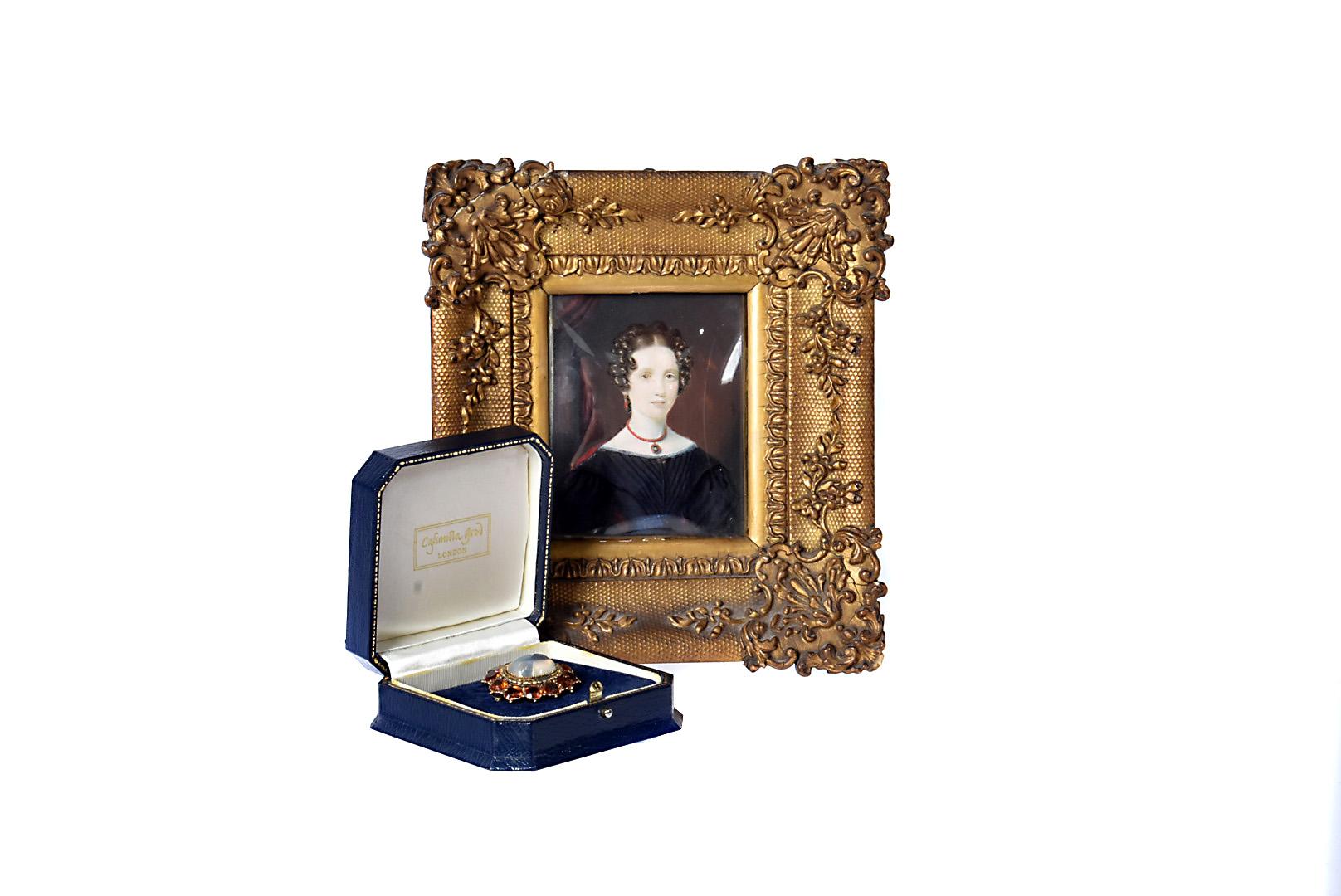 Anna Theresa Stalker (1805-1890), relative of Major General Foster Stalker, hand painted portrait on