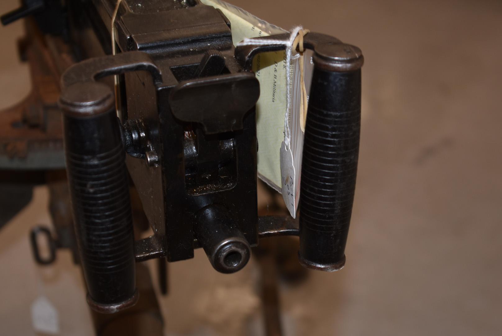 A deactivated Italian Breda M37 7.92mm Heavy Machine gun and tripod, serial 8805, deactivated to the - Image 5 of 7