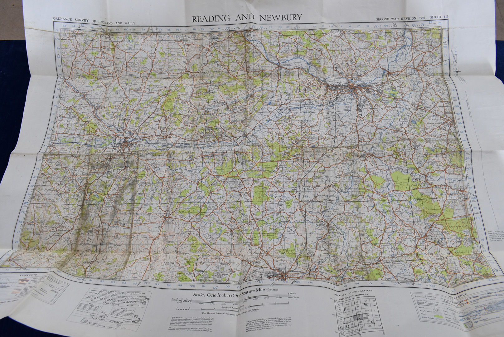 A group of five WWII Ordnance Survey maps, Second War Revision 1940 5th Edition, to include, - Image 3 of 6