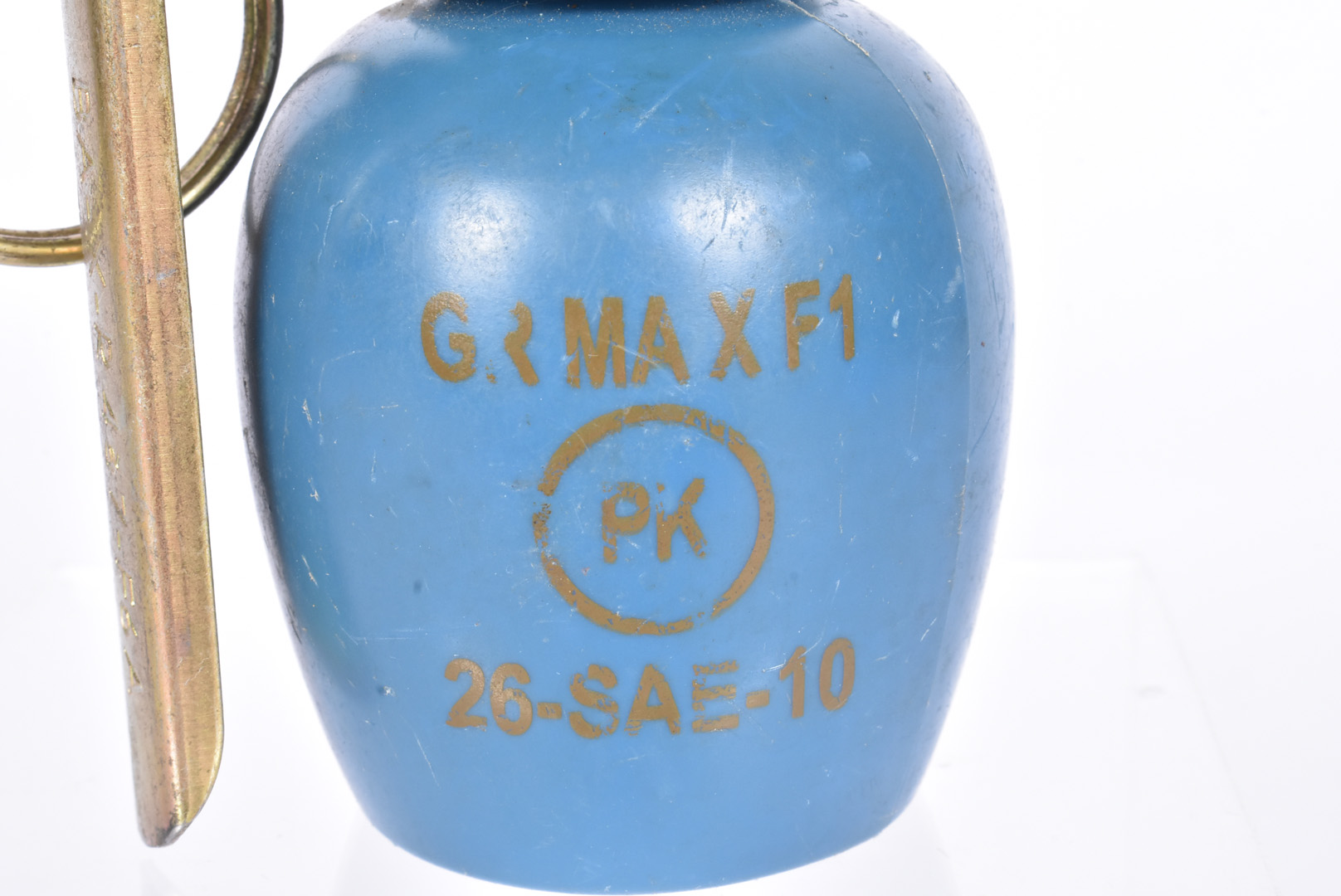 An inert French M51 practice grenade, having blue body with stamp, complete with spoon and pin, also - Image 2 of 4