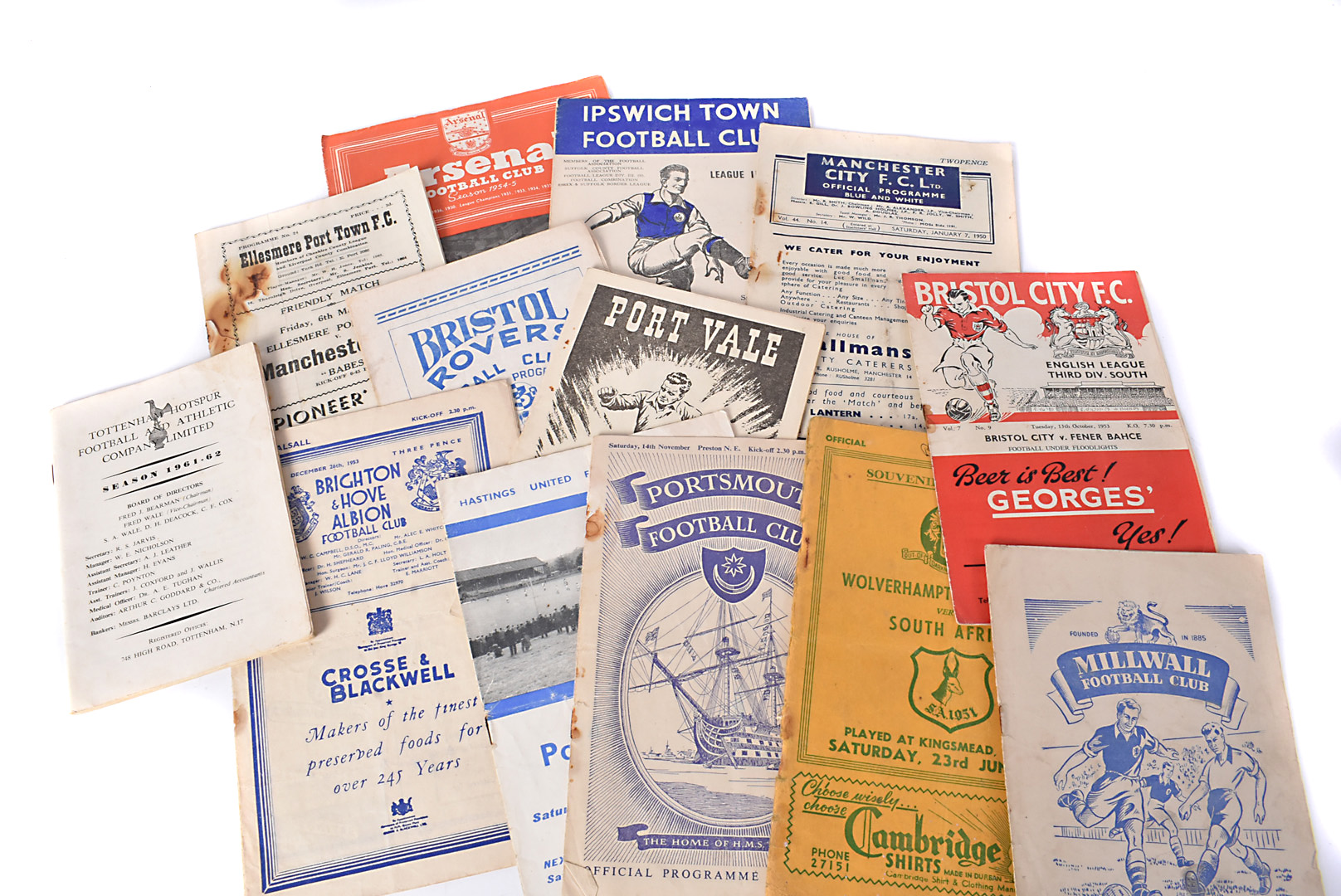 Football Programmes plus, approximately thirty football programmes generally from the 1950s that