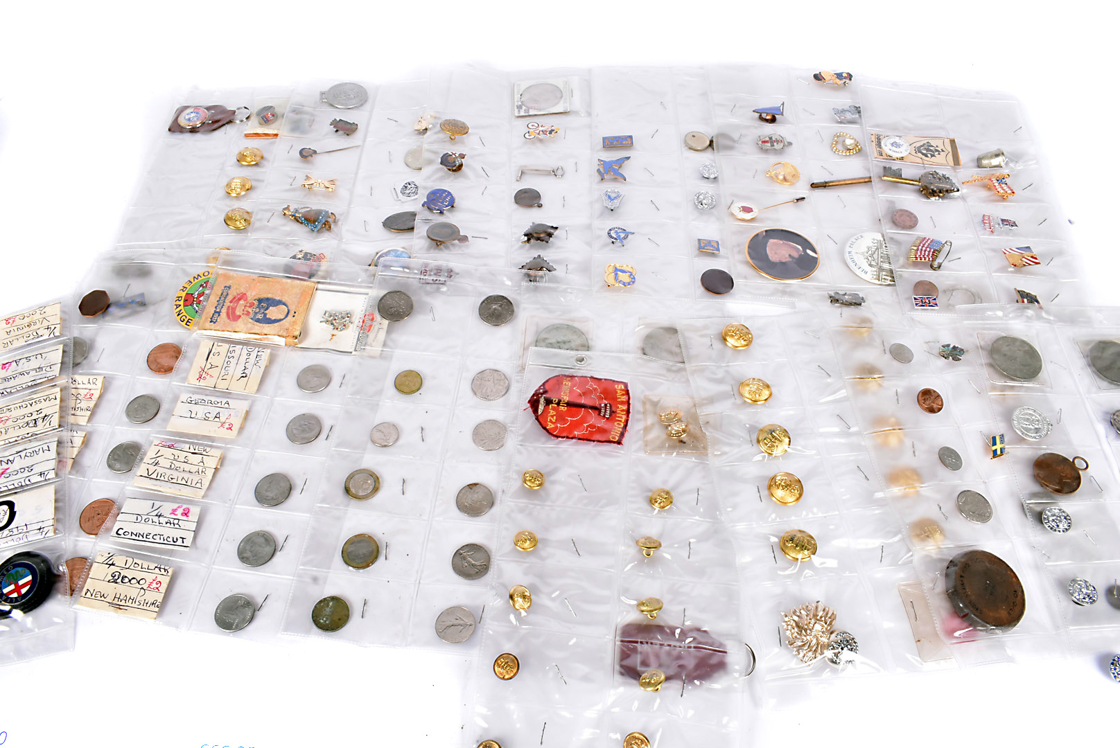An assortment of various badges and other items, to include a Blue Peter Competition Winners