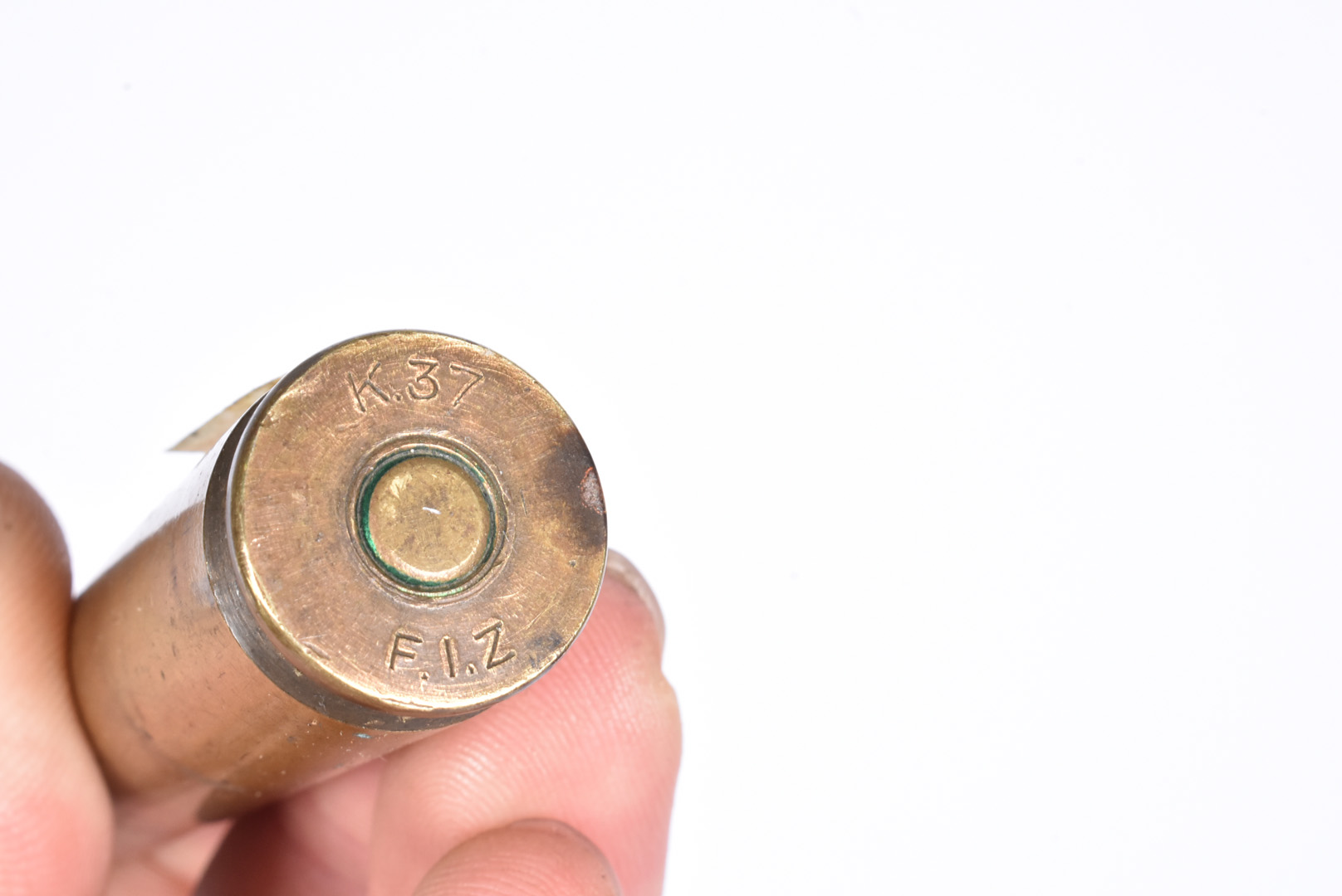A rare .50 Vicker inert round, unstruck with steel head, stamped K37 F.I.Z to the base, 11cm - Image 2 of 2