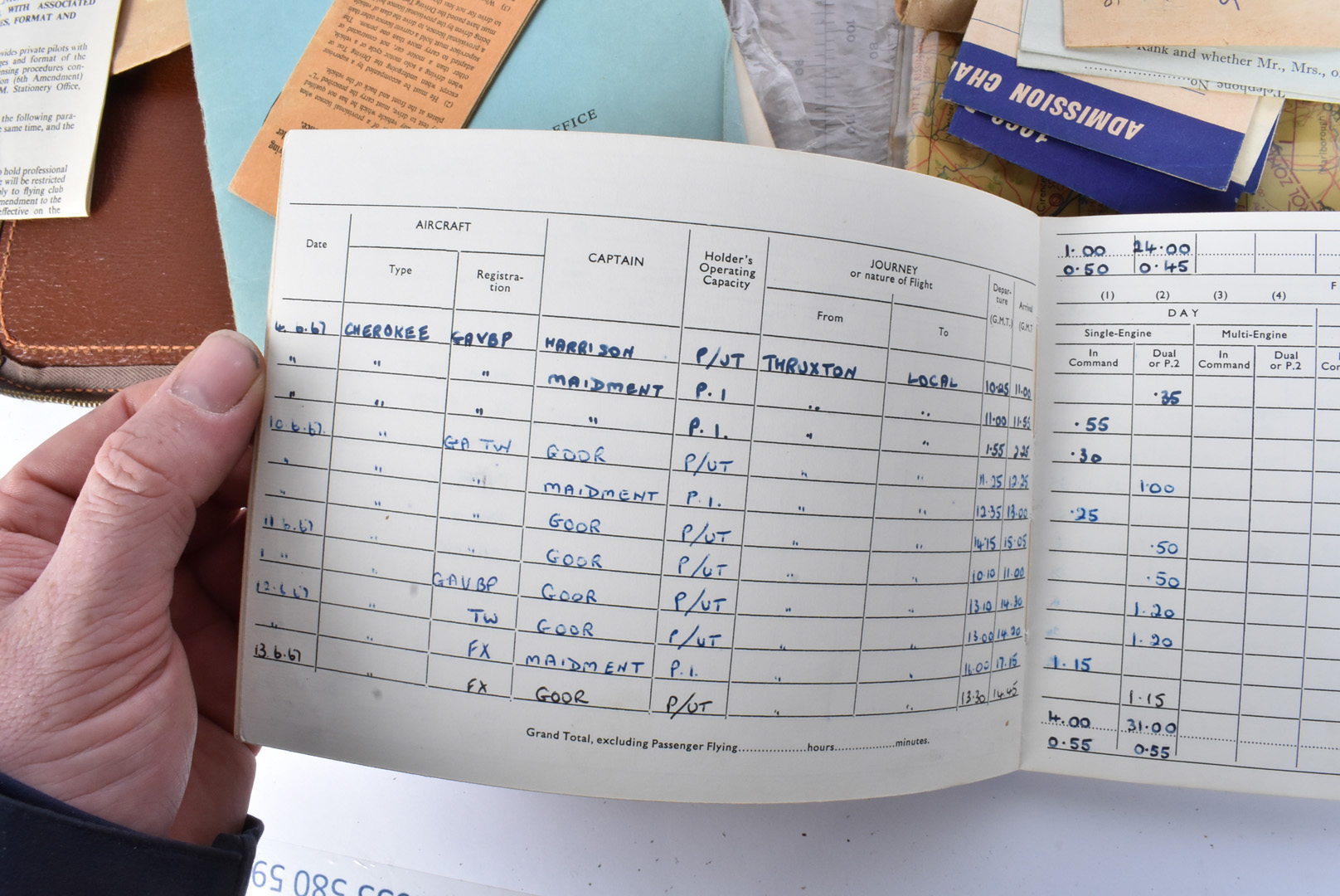 A Female's Private Pilot Licence and Log book, dated to the 1970s, the documents for Private - Image 4 of 5