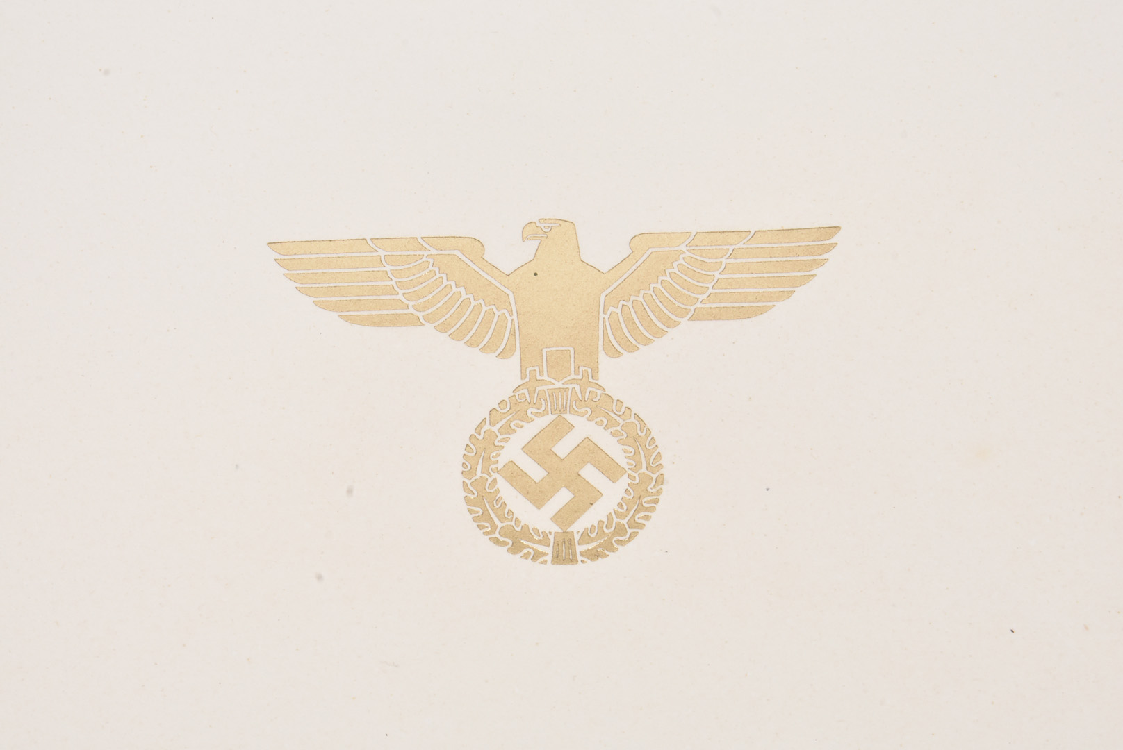 A reproduction Citation, having Third Reich blind stamp and signature, together with a small - Image 6 of 6