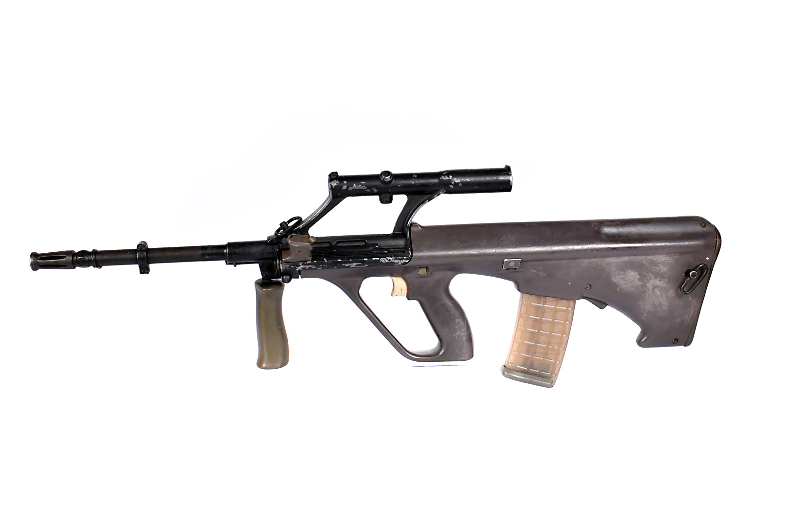 A deactivated Austrian Steyr AUG 5.56mm Assault Rifle, serial number M17523, in good deactivated
