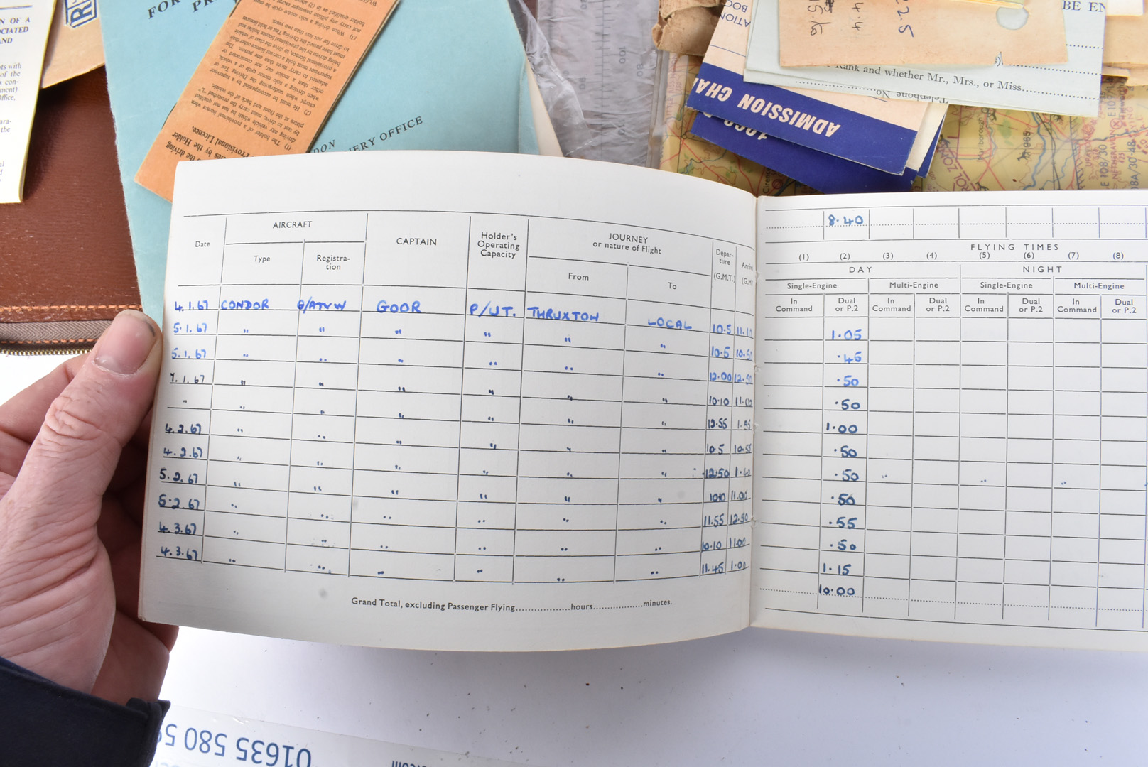 A Female's Private Pilot Licence and Log book, dated to the 1970s, the documents for Private - Image 5 of 5