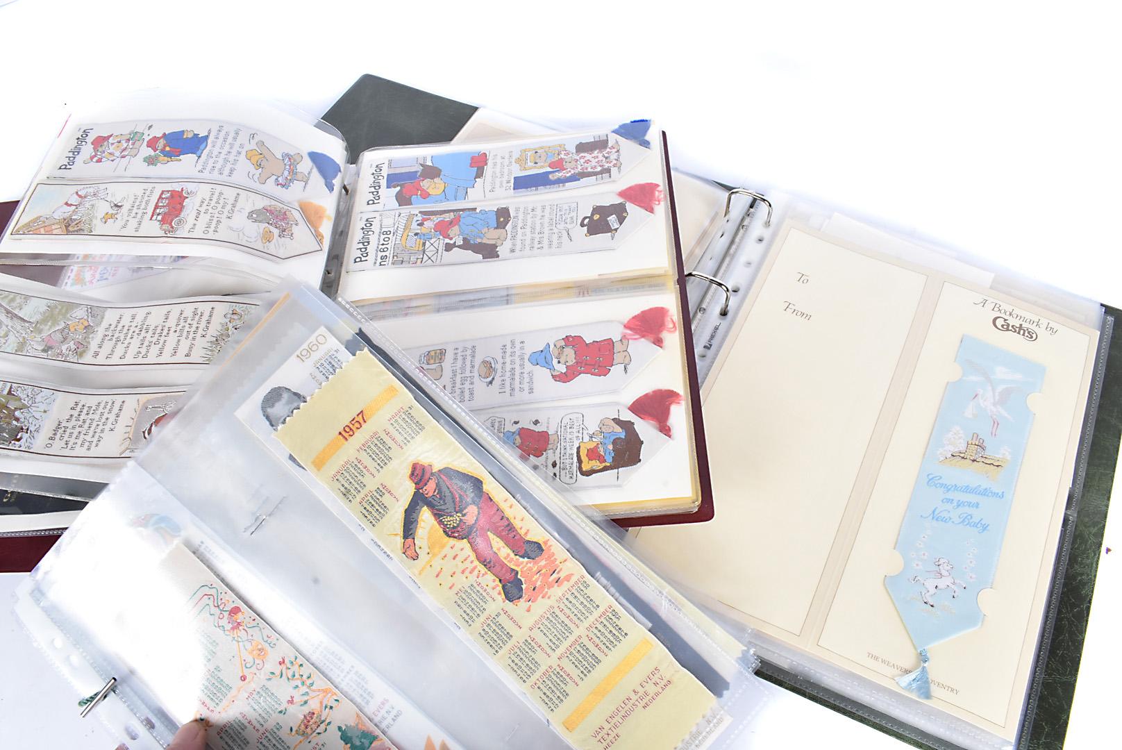 Silk Bookmarks and Calendars, Van Engelen & Evers woven silk calendars E12 1952-1996, together