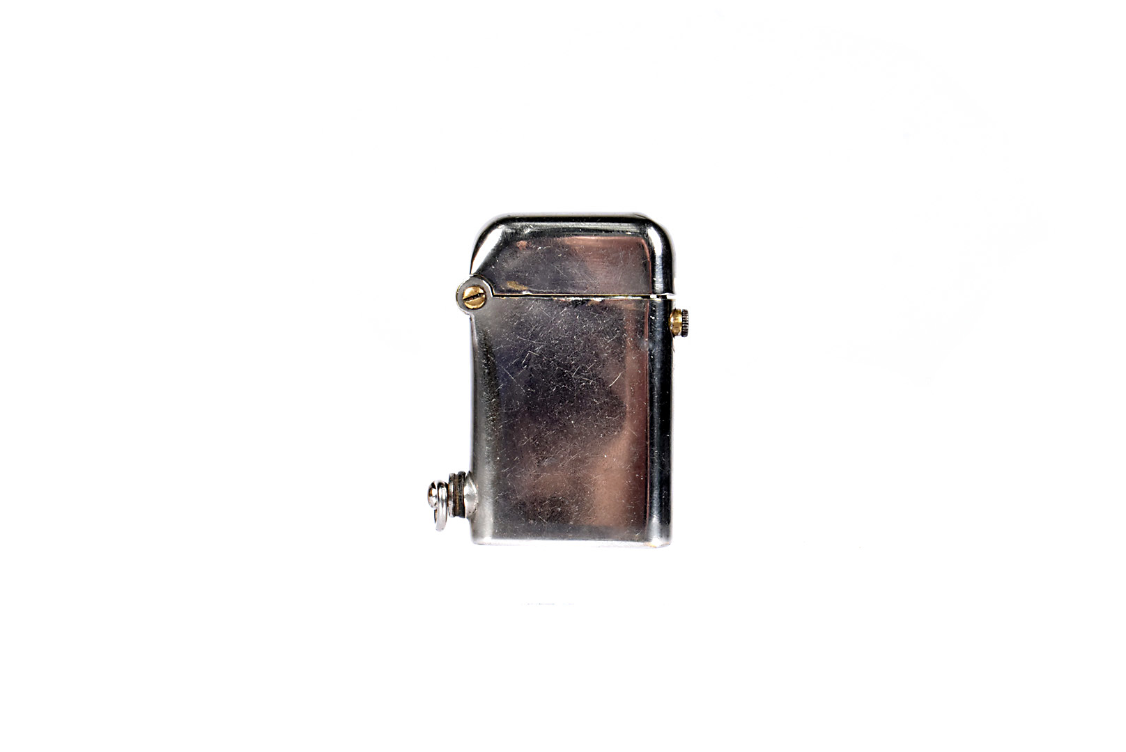 A Thorens original pocket lighter, single claw, large size, c.1920 with plain silver plated