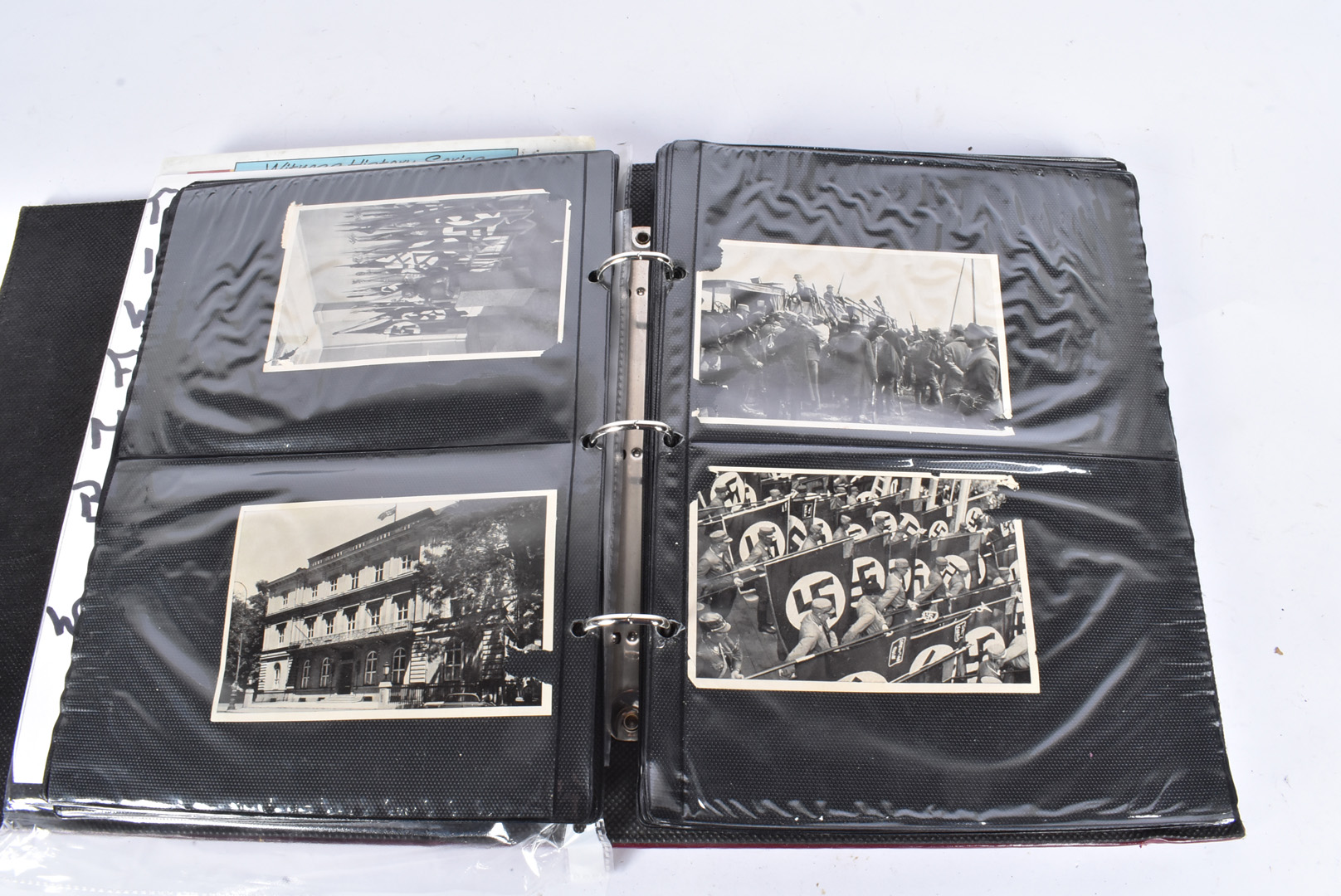 A selection of WWII German black and white photographs, depicting German troops, Hitler, various - Image 5 of 7