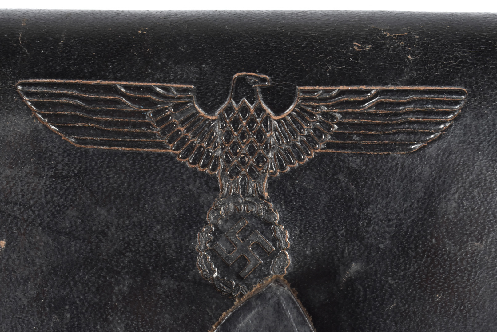 A Hitler Youth holster, having eagle and swastika stamp to the front, maker stamp to the reverse ' - Image 2 of 5