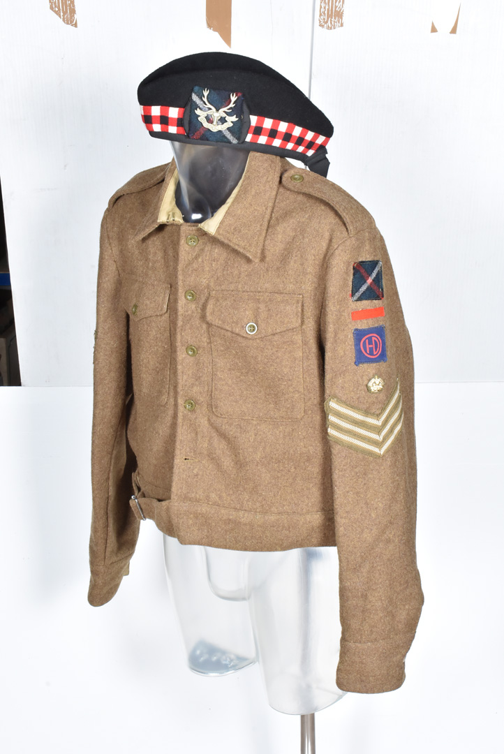 A Staff Sergeants Seaforth Highlander uniform, comprising of blouse/jacket , size 48 with Soldier of