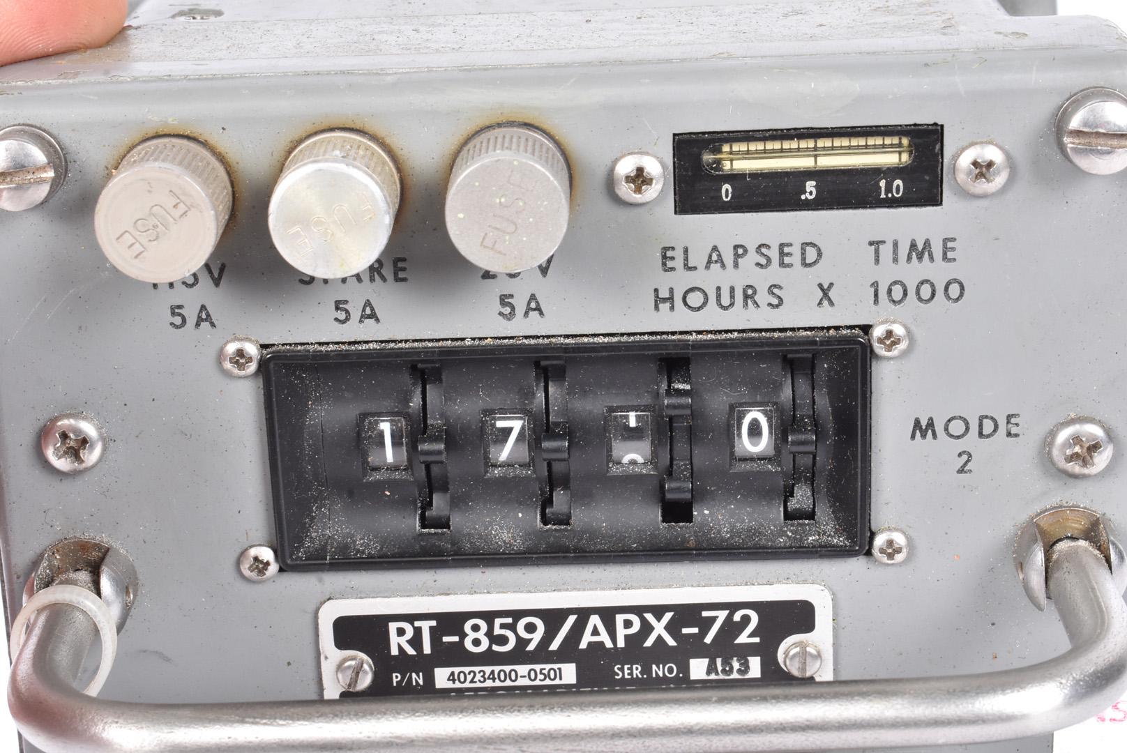 An Aeromaritime Inc of Washington Transponder, marked RT-859/APX-72, having stencilled - Image 3 of 5