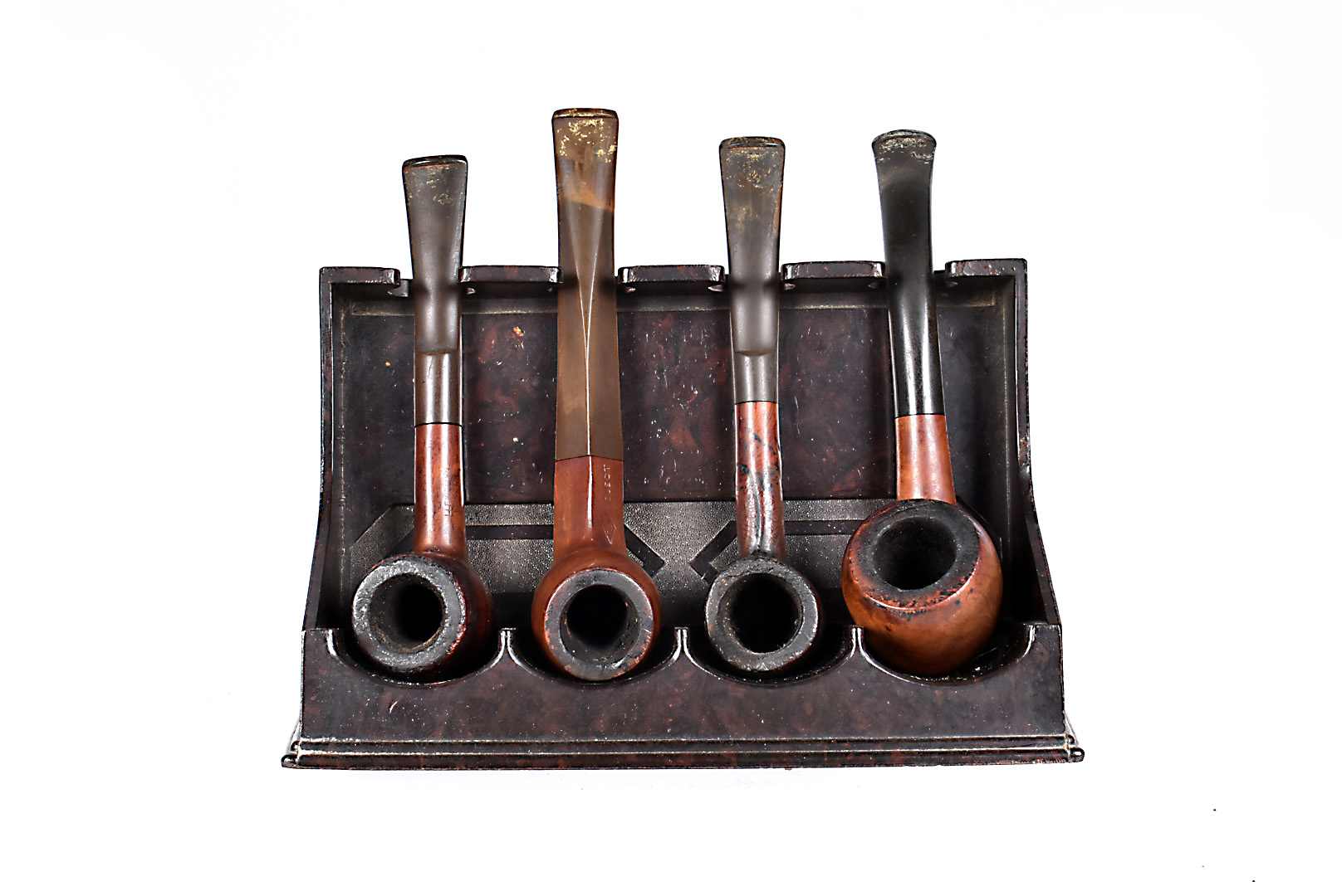 A selection of four Briar smoking pipes, to include two F&T Rejects, one with diamond stem, the
