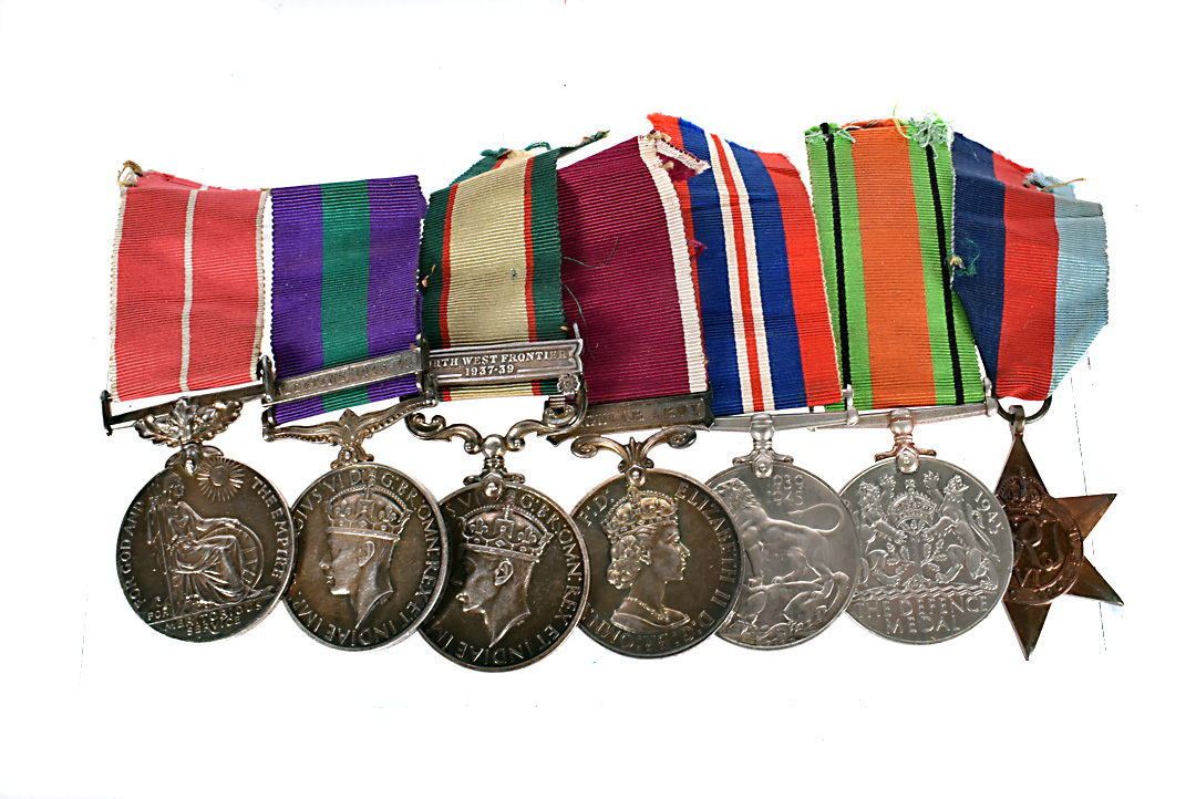 A WWII Royal Corps of Signals medal group, awarded to Elding Bell (2323665), during his time in