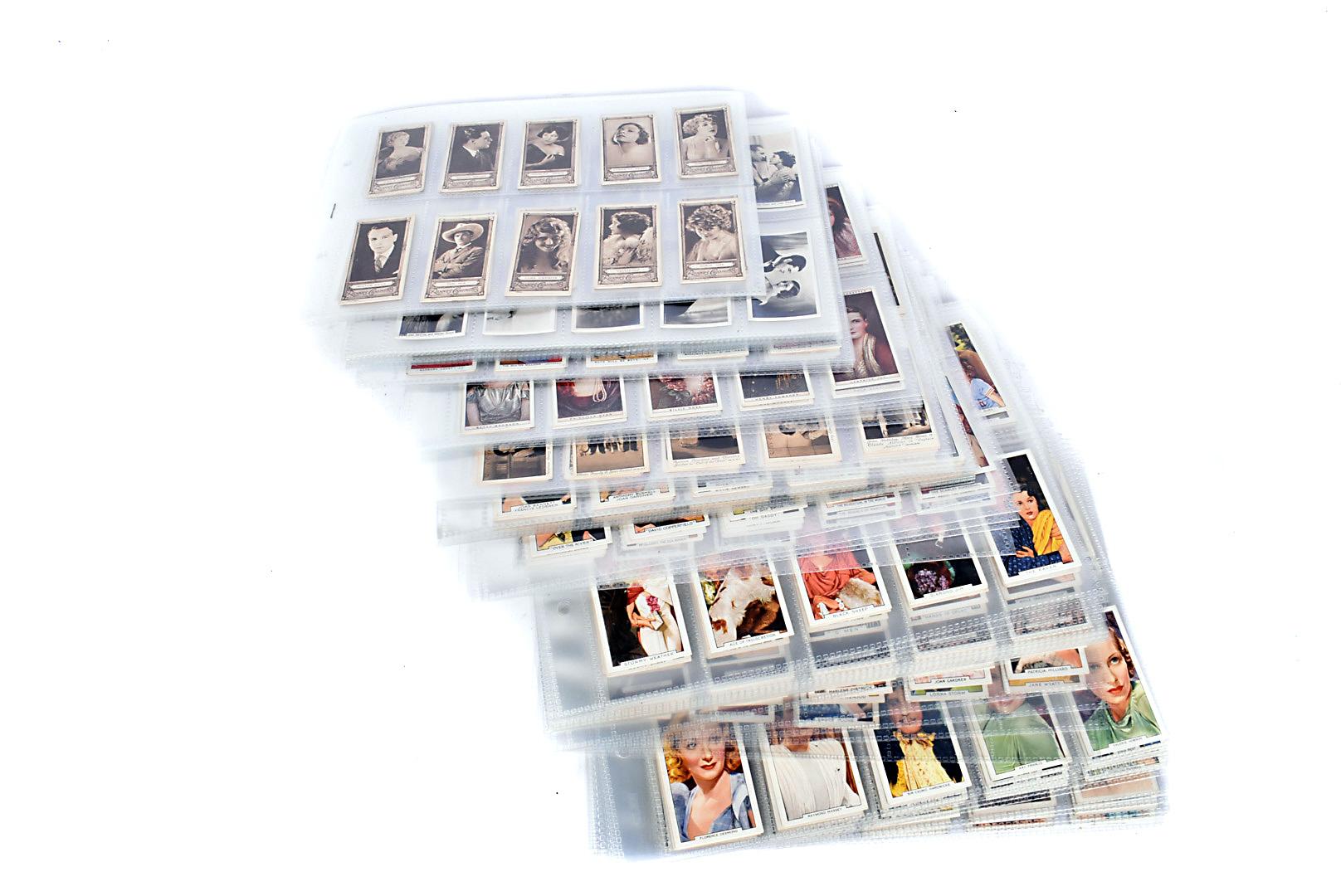 Film Star Themed Cigarette Cards, various sets comprising, Edwards Ringer & Bigg Cinema Stars,