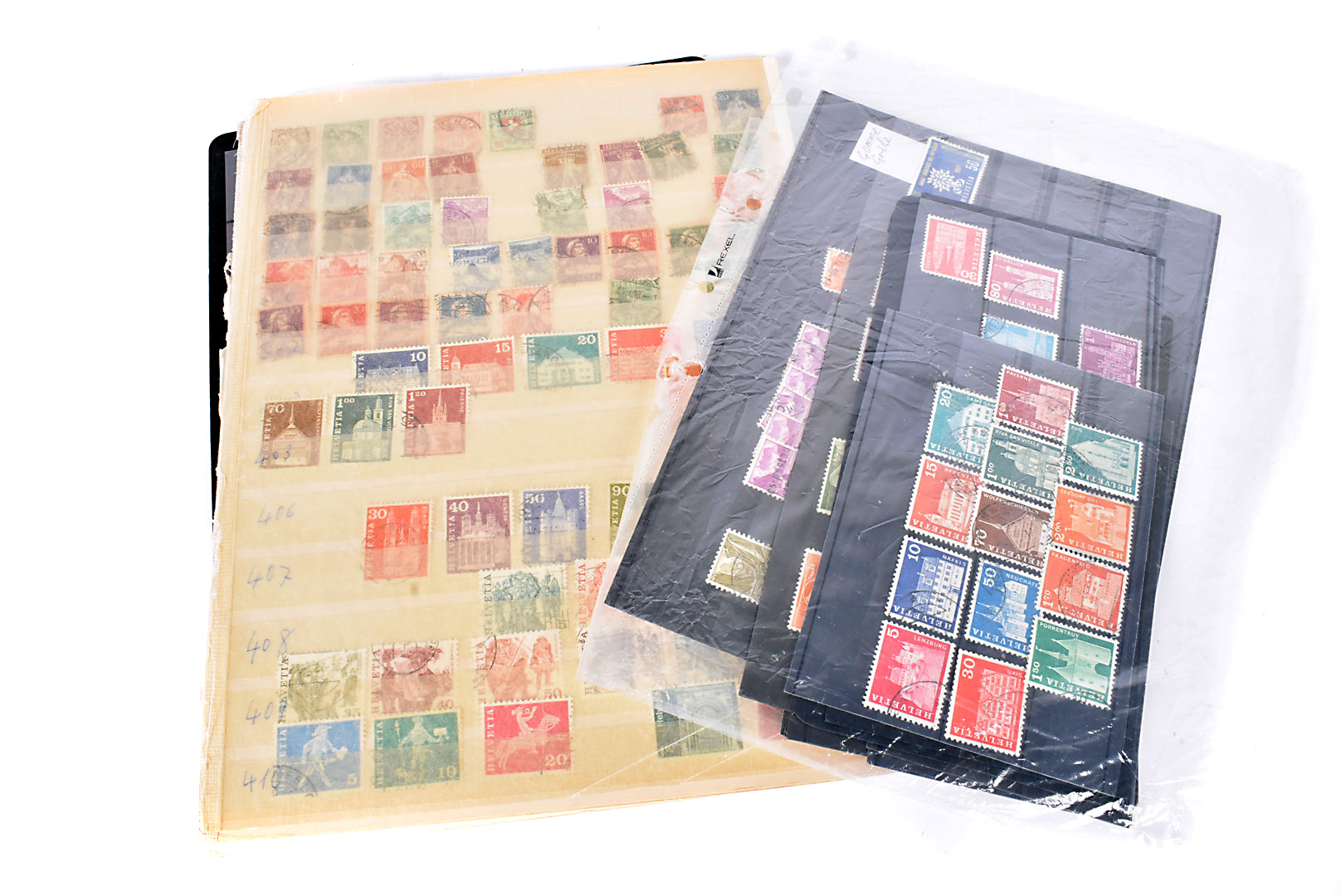 A collection of World stamps, on boards, loose and on envelopes, Late 20th Century and modern (qty)