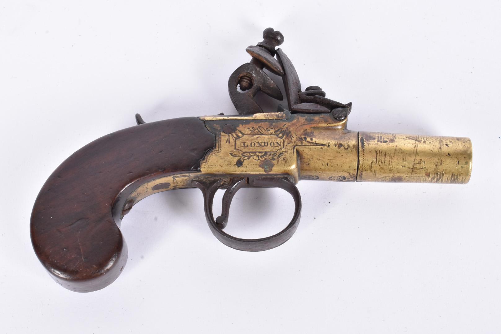 A early 19th Century English Flintlock Screw barrel pocket pistol by Twigg of London, the .44 - Image 2 of 8