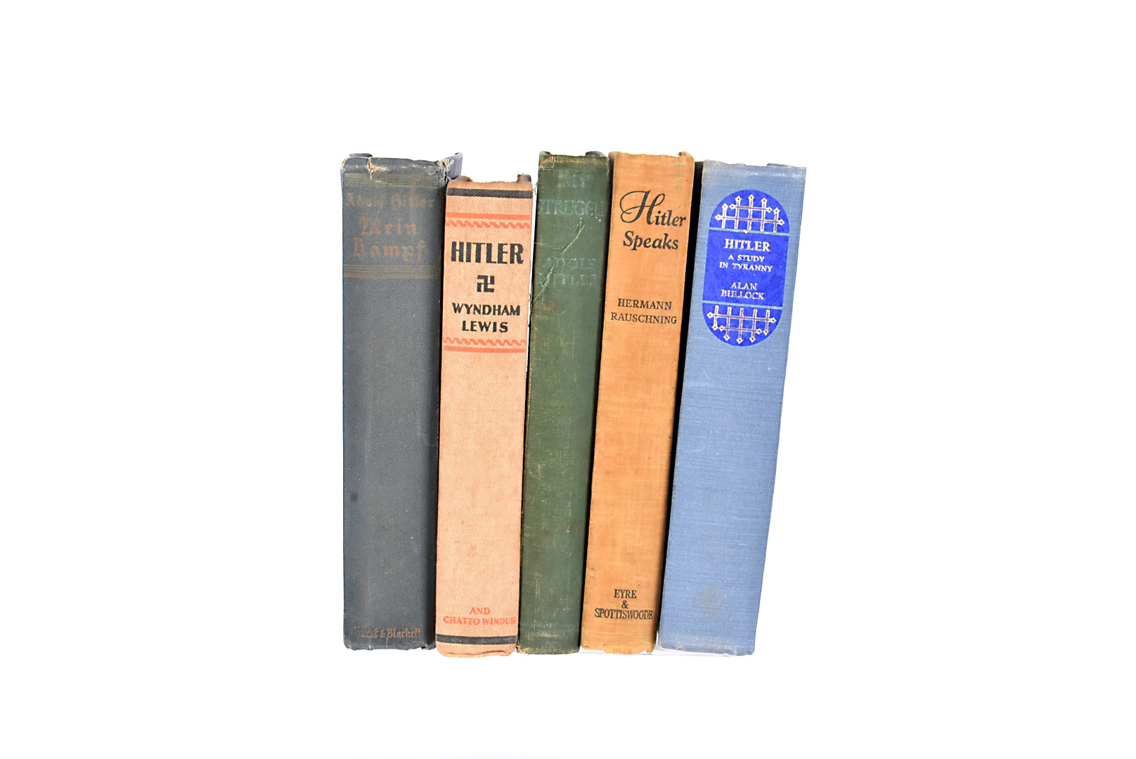 A group of five Hitler related books, to include Mein Kampf by Hurst and Blackett 1939, Hitler by