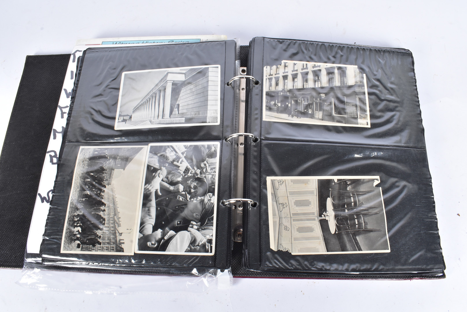 A selection of WWII German black and white photographs, depicting German troops, Hitler, various - Image 3 of 7