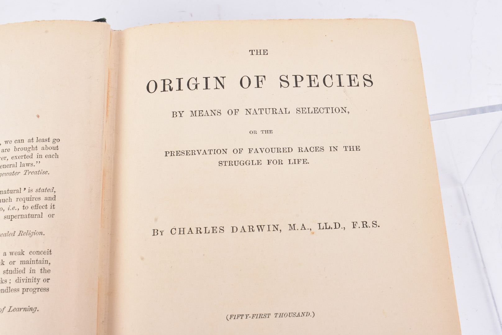 Charles Darwin, The Origin of Species, by Means of Natural Selection, or the Preservation of - Image 2 of 5
