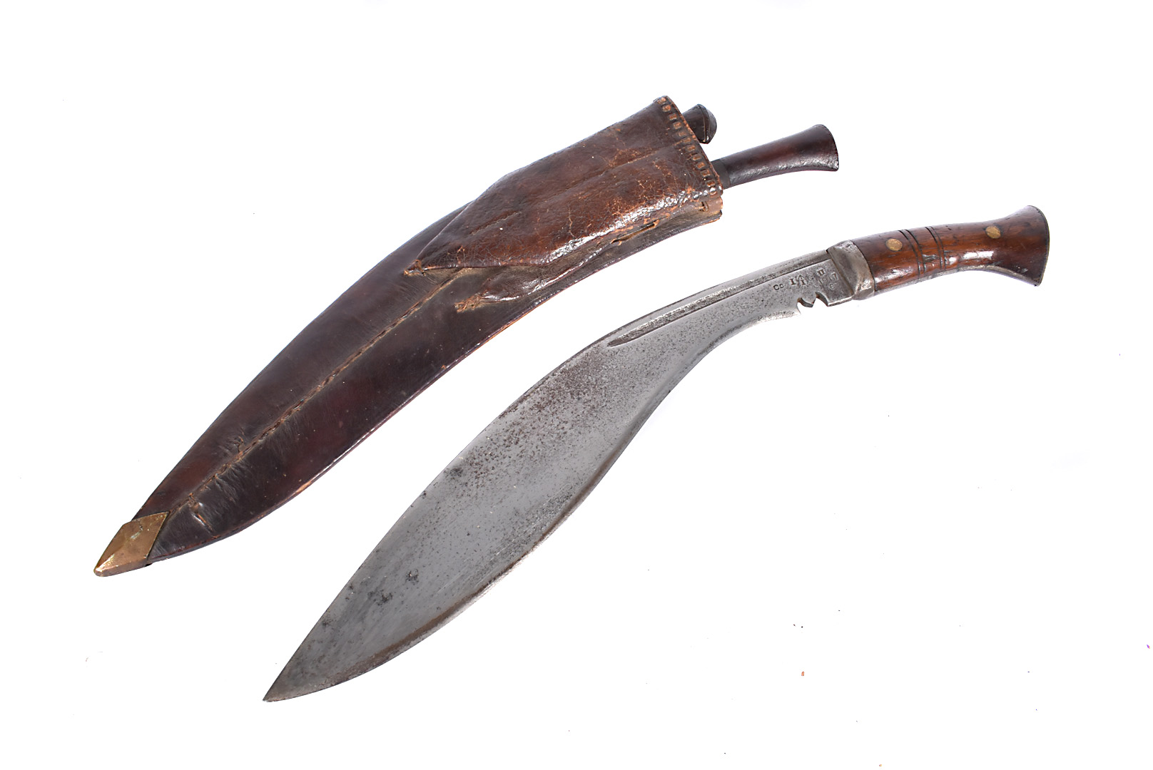 A WWI military issue Kukri, dated 1917, also stamped with broad arrow, issue number 659, complete