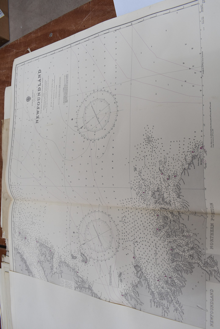 A collection of large British and overseas 1950/60s maps, to comprising Canada, Northern America, - Image 6 of 7