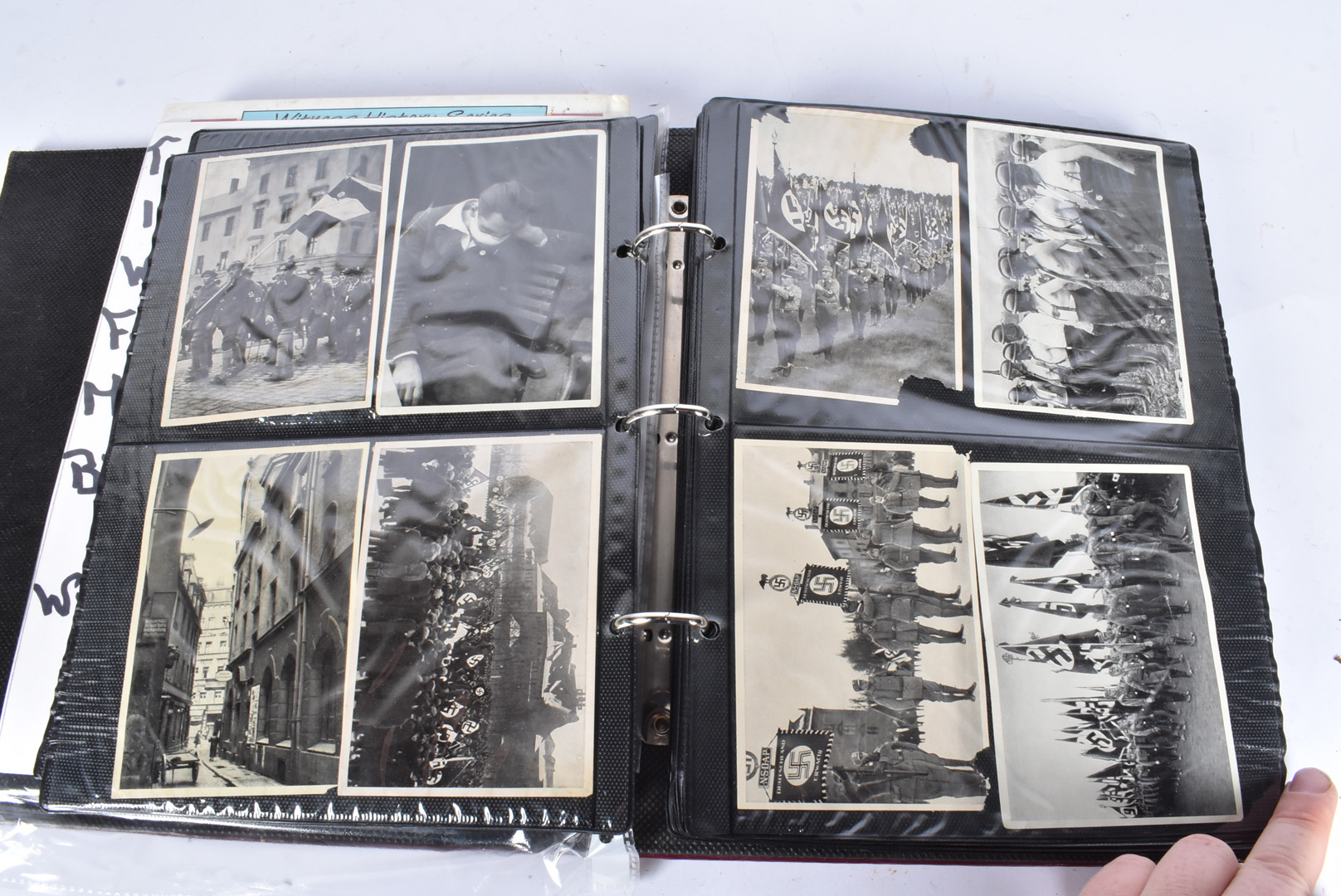 A selection of WWII German black and white photographs, depicting German troops, Hitler, various - Image 2 of 7