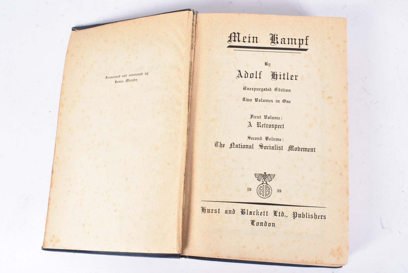A group of five Hitler related books, to include Mein Kampf by Hurst and Blackett 1939, Hitler by - Image 3 of 10