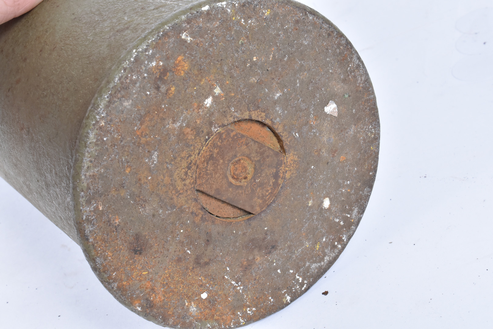 An inert WWII German 7.5cm Hollow Charge Shell, the casing has pitting, the head is good with the - Image 4 of 4