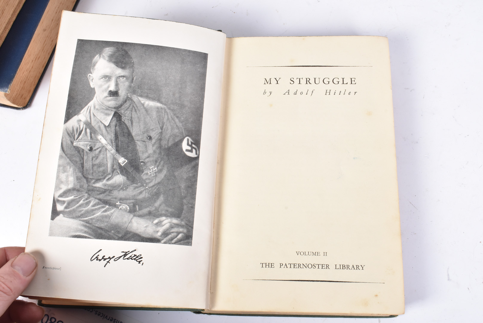A group of five Hitler related books, to include Mein Kampf by Hurst and Blackett 1939, Hitler by - Image 7 of 10