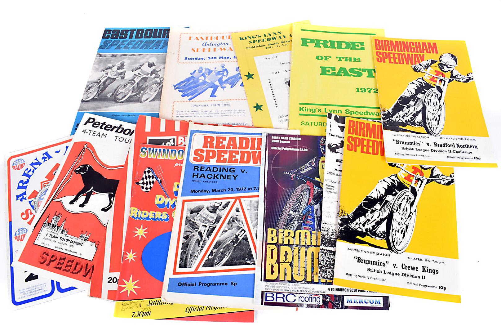 Speedway Programmes, well over one thousand programmes for Birmingham (400) Cradley Heath (150)