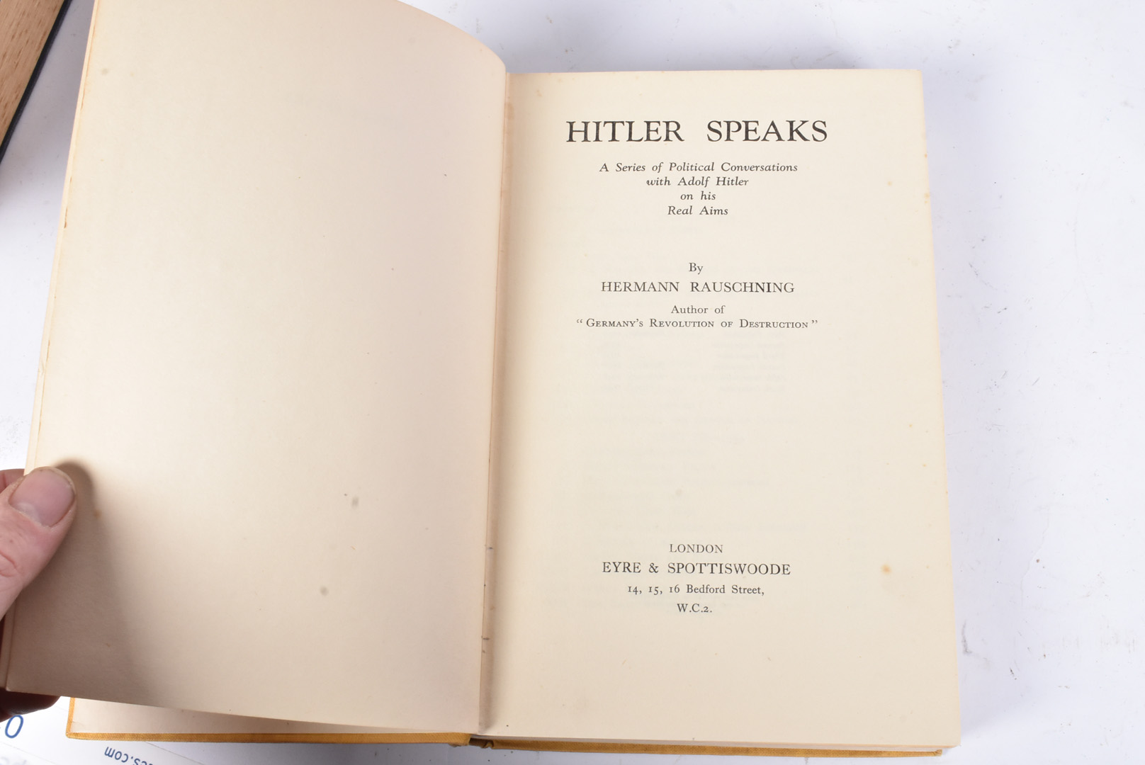 A group of five Hitler related books, to include Mein Kampf by Hurst and Blackett 1939, Hitler by - Image 9 of 10