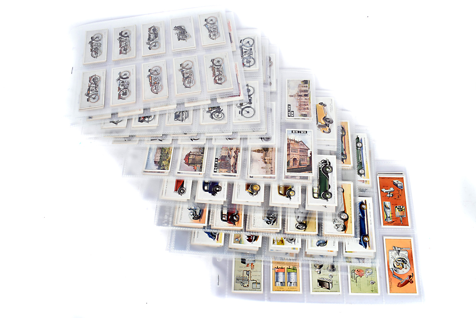 Motor Car and Motor Cycle Themed Cigarette Cards, various sets comprising, Wills (New Zealand) Motor