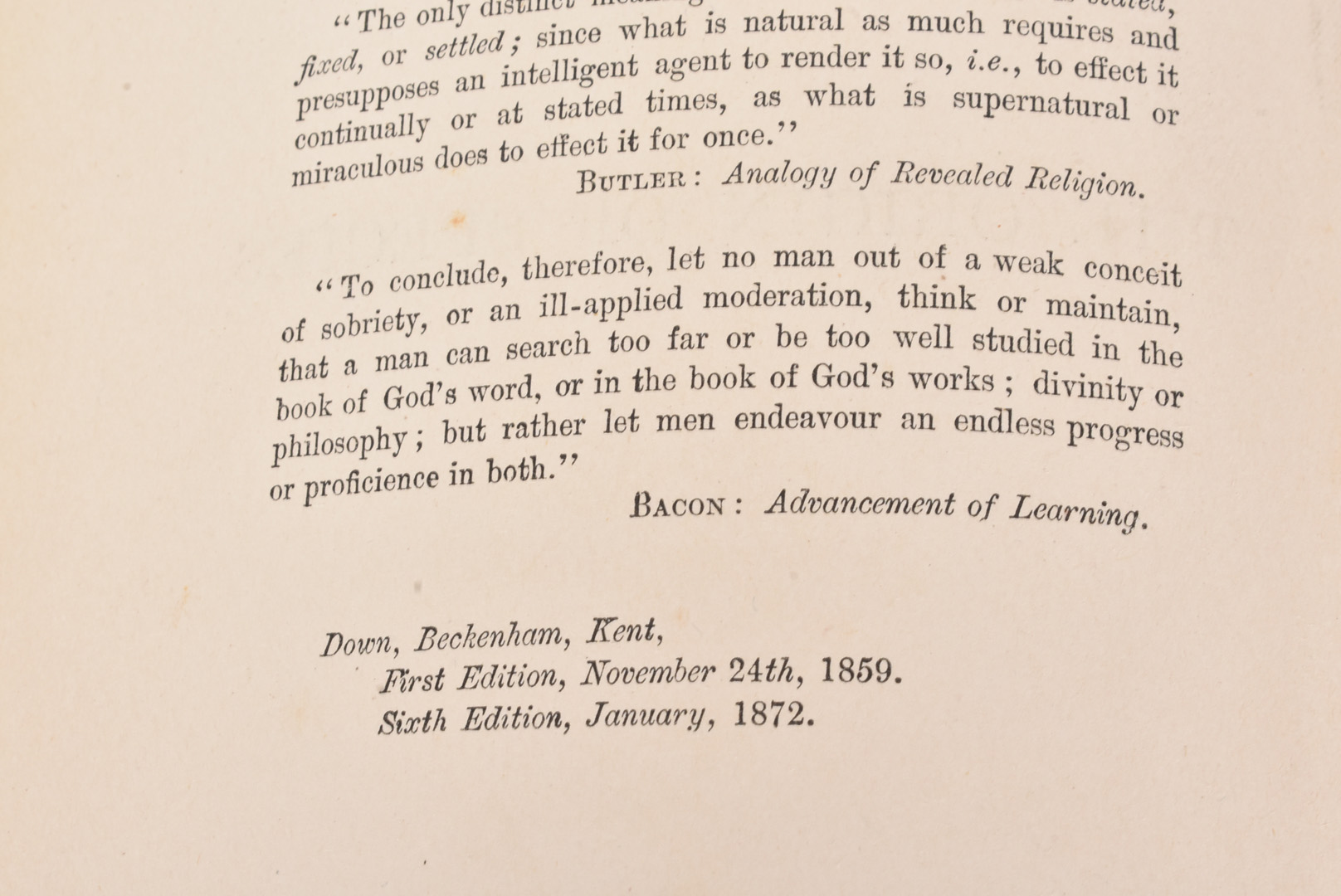 Charles Darwin, The Origin of Species, by Means of Natural Selection, or the Preservation of - Image 3 of 5
