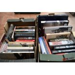A large collection of military related books, to include, The Nemesis File by Paul Bruce, Sabre
