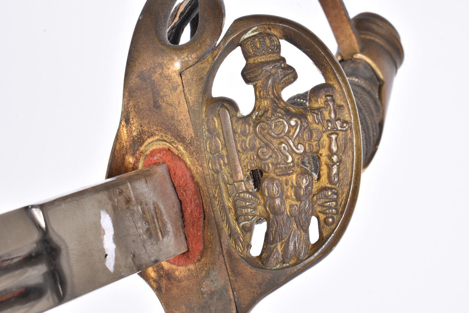A Prussian model 1889 Infantry Officer's Sword, by P O & Co, having applied Royal cipher to the - Image 3 of 7
