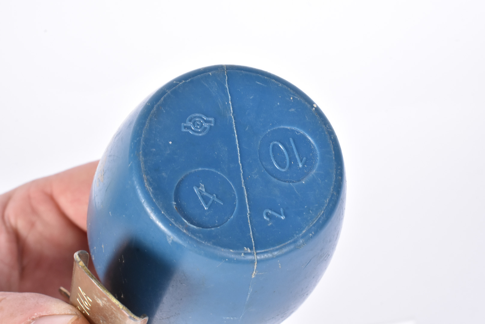 An inert French M51 practice grenade, having blue body with stamp, complete with spoon and pin, also - Image 4 of 4