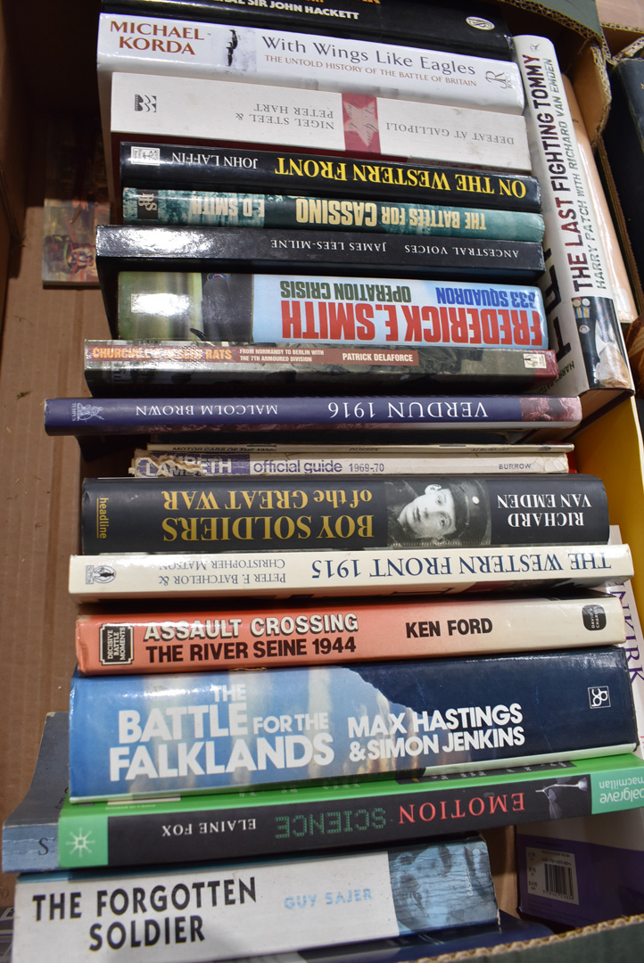 An assortment of military related fiction and non-fiction books, covering a variety of eras and - Image 2 of 3