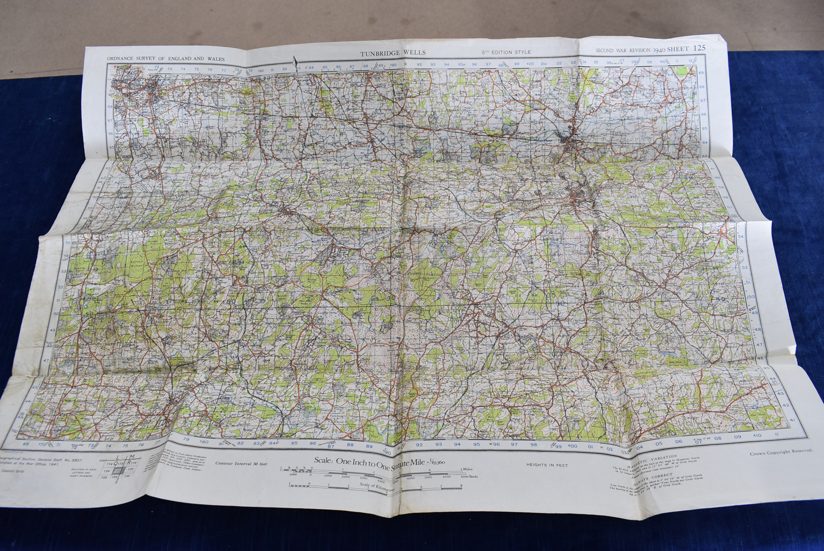 A group of five WWII Ordnance Survey maps, Second War Revision 1940 5th Edition, to include, - Image 5 of 6