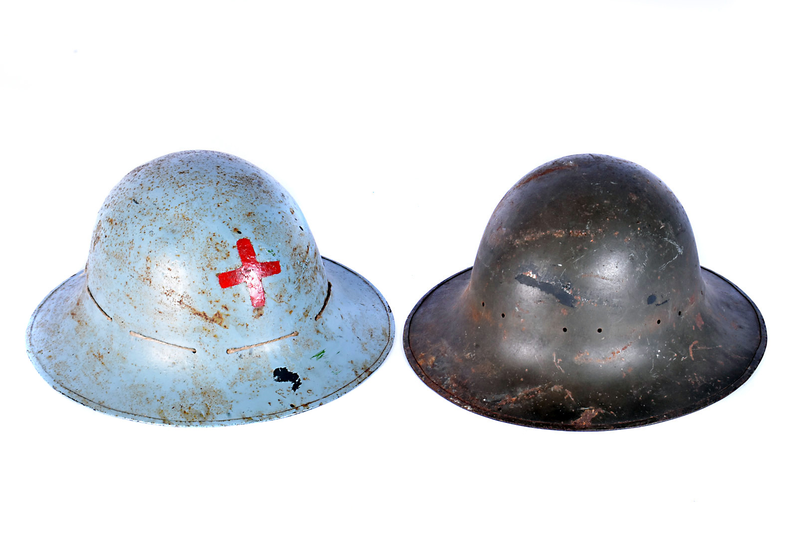 A WWII Medics Zuckerman helmet, by C.C & S Ltd, size 7½, dated 1941 to the inner helmet and liner,