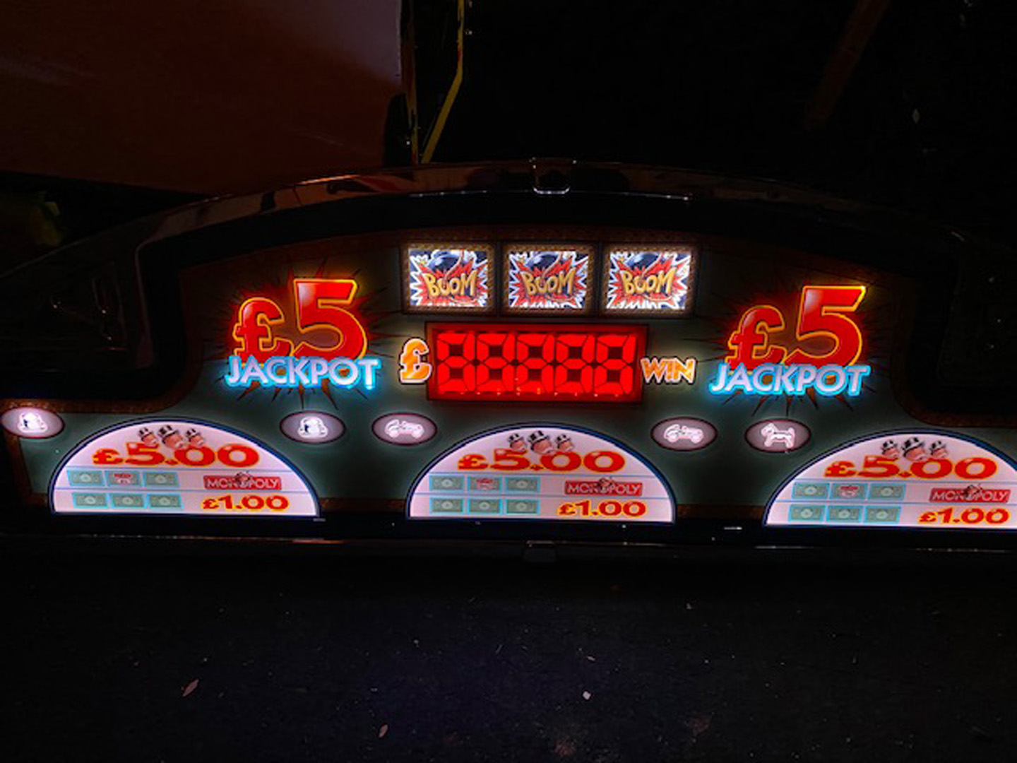 A large Monopoly Arcade machine topper, approximately 220cm wide, probably topping multiple Monopoly - Image 2 of 3