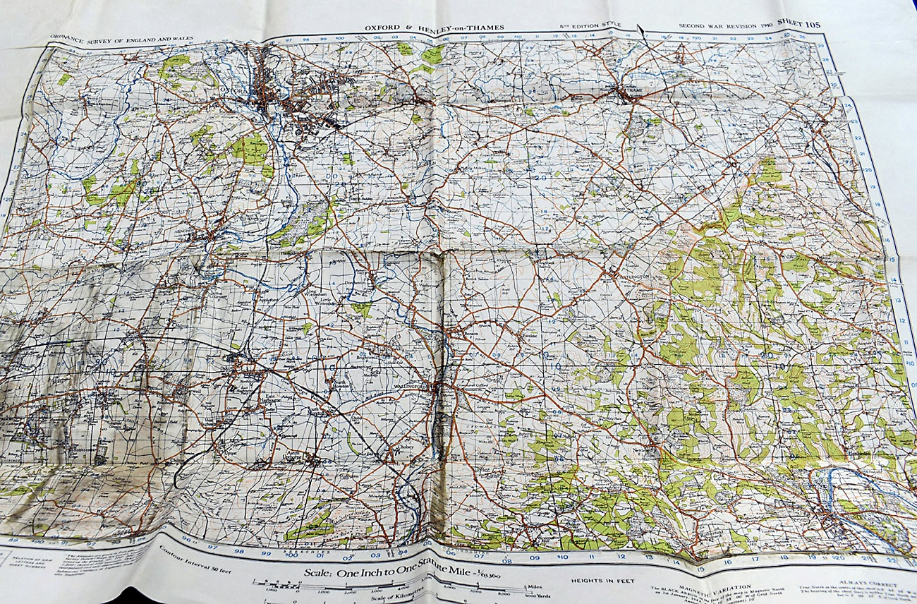 A group of five WWII Ordnance Survey maps, Second War Revision 1940 5th Edition, to include,