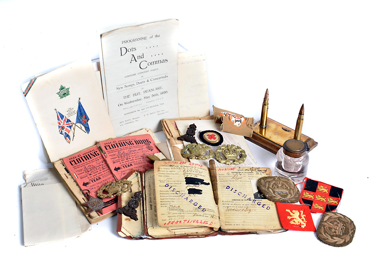 A collection of items relating to a Polish solider, including his Service book, paperwork, invoices,