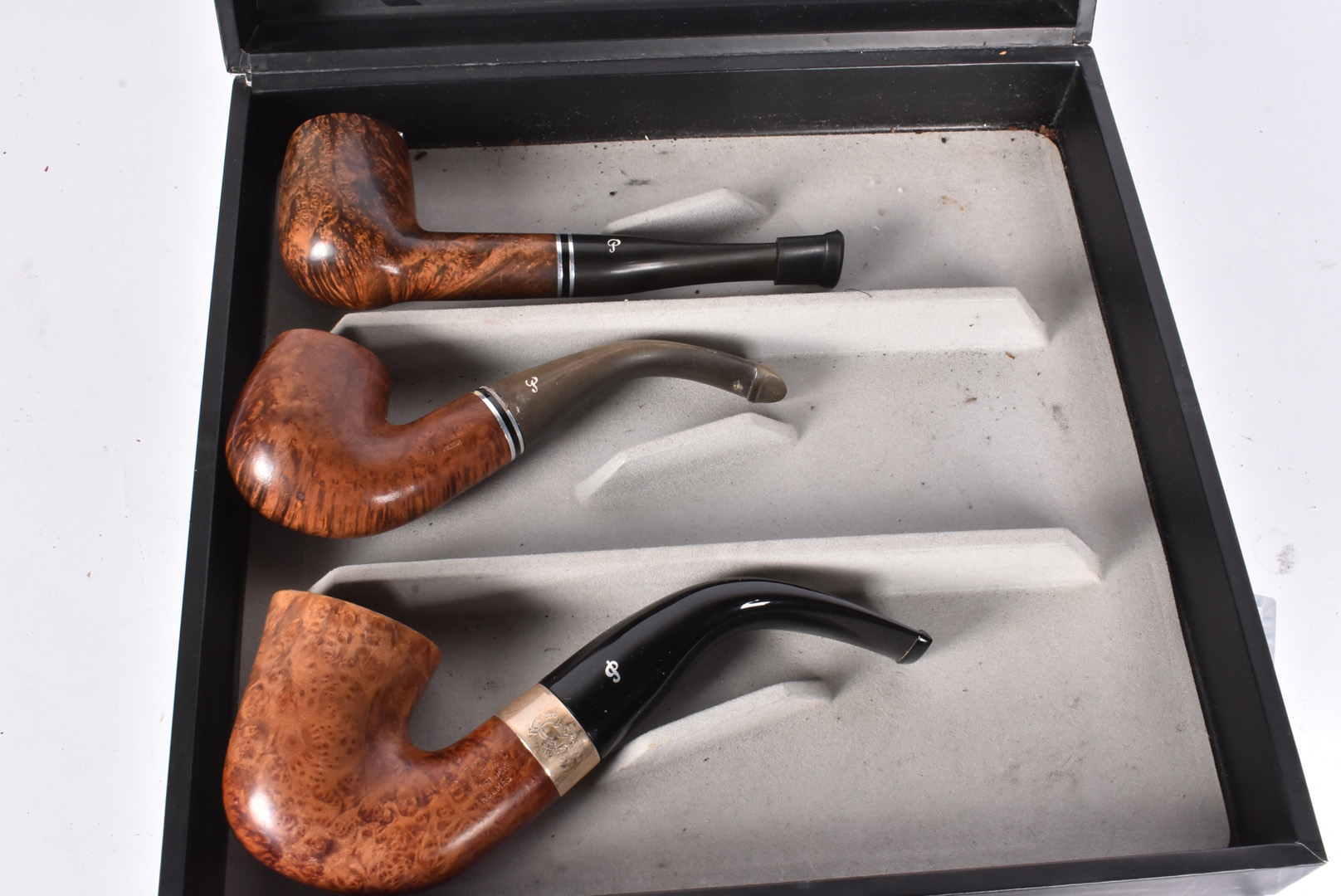 Peterson of Dublin, Three pipes by Peterson of Dublin, an original with silver collar, a number - Image 2 of 2