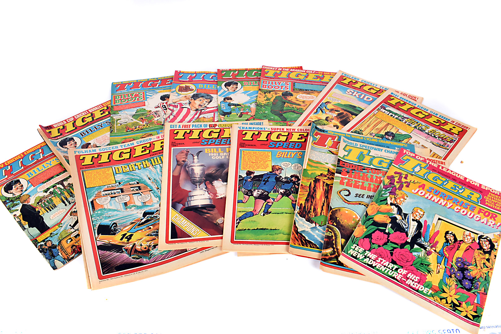 A large collection of late 1970s/ early 1980s Tiger comics, mainly 1981-1984, approximately 150+