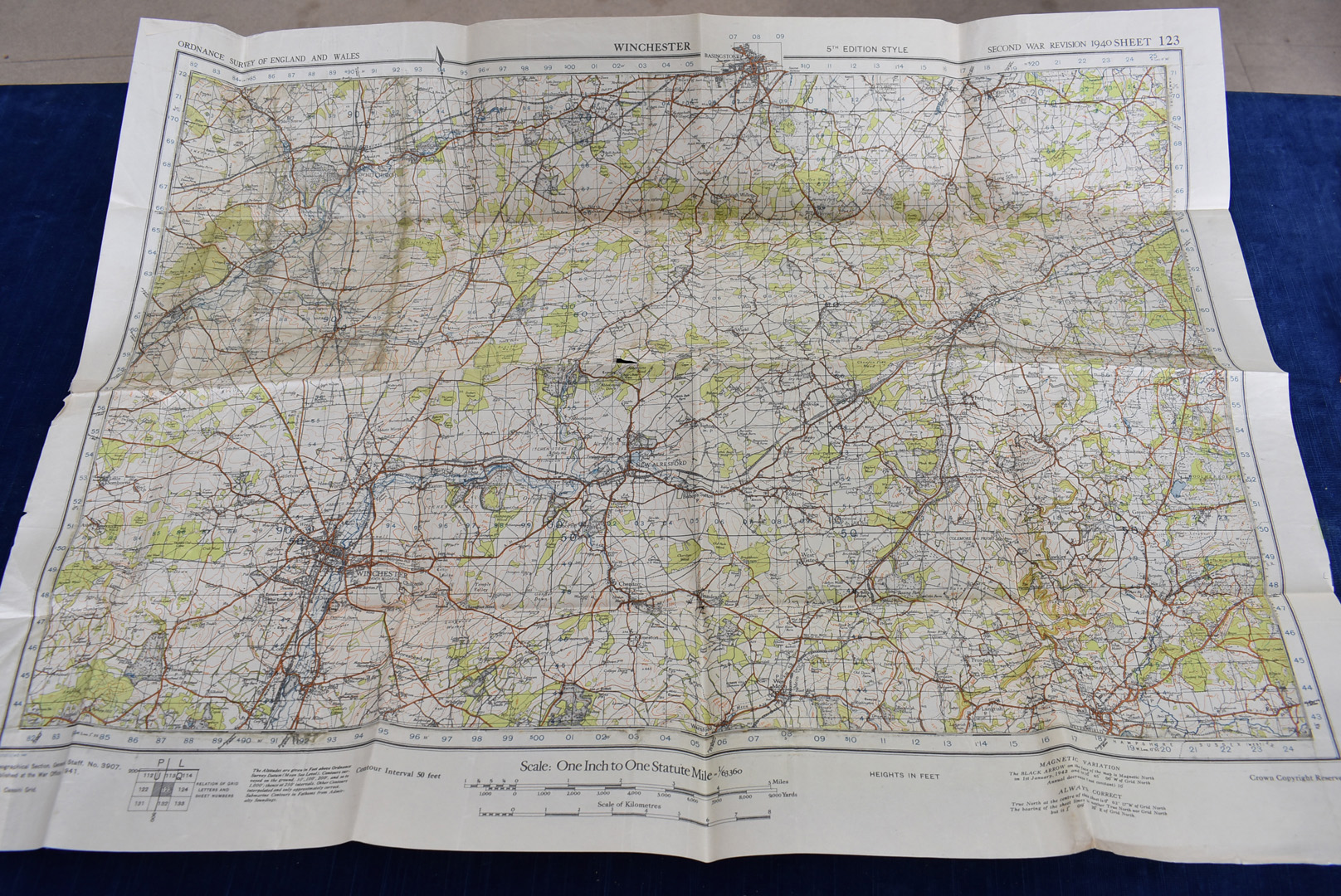 A group of five WWII Ordnance Survey maps, Second War Revision 1940 5th Edition, to include, - Image 4 of 6