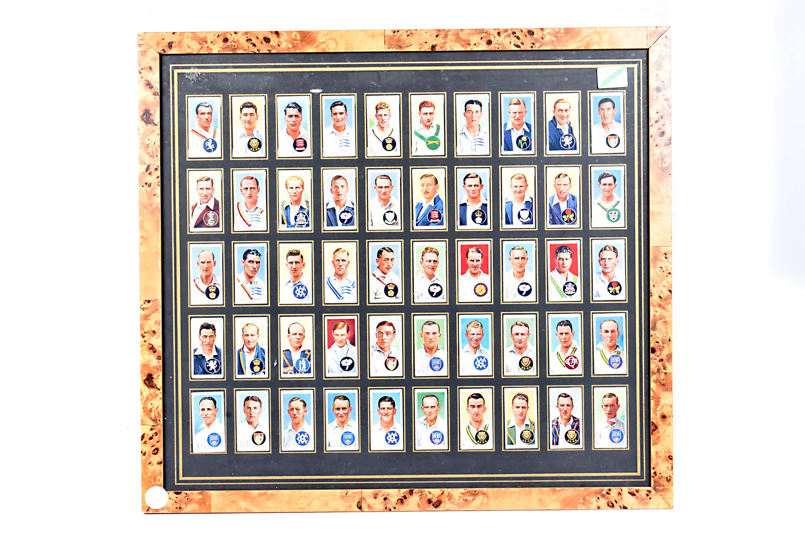 Cricket Cigarette Cards, three f/g presentations of cigarette cards, Player's Card including Denis