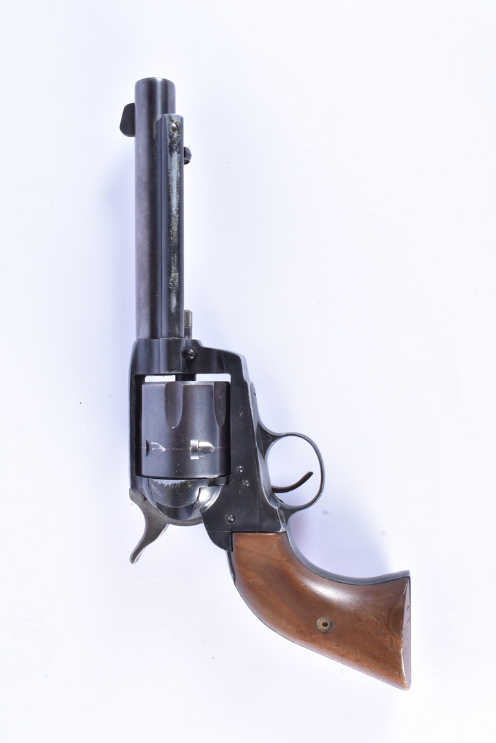 A West German Inter World Arms Western Single Action Blank Firing Revolver, .22 calibre, the metal - Image 2 of 6